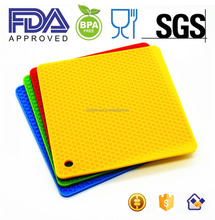 FDA approved Heat Resistant Honeycomb Silicone Hot Pot Holder/mat/pad/trivet/coaster