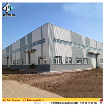 Light steel frame structure design low cost industrial shed for sale