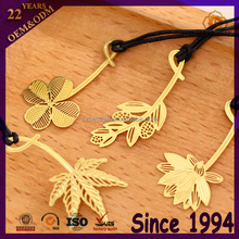 National maple leaf metal gold bookmarker in Zinc alloy