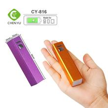 Mini 2600mAh Lipstick-sized Portable External Battery Charger Aluminum Tube Power Bank