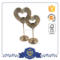 Heart Shaped Metal candle holder for Valentine's Day