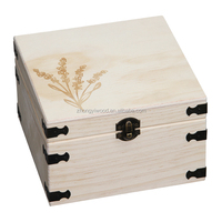 Custom Wooden Hinged Heart Trinket zhongyi Box