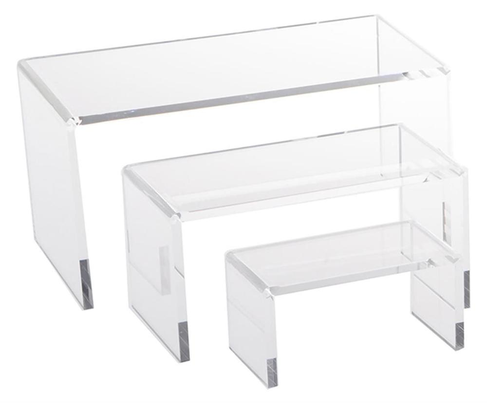 Acrylic Riser Set Small Showcase for Jewelry