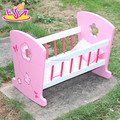 Wholesale cheap kids wooden toy 18 inch doll bed W06B052