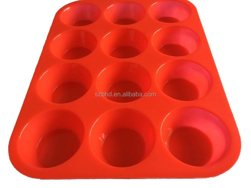 Non - Stick 12 Cup Silicone Muffin & Cupcake Baking Pan