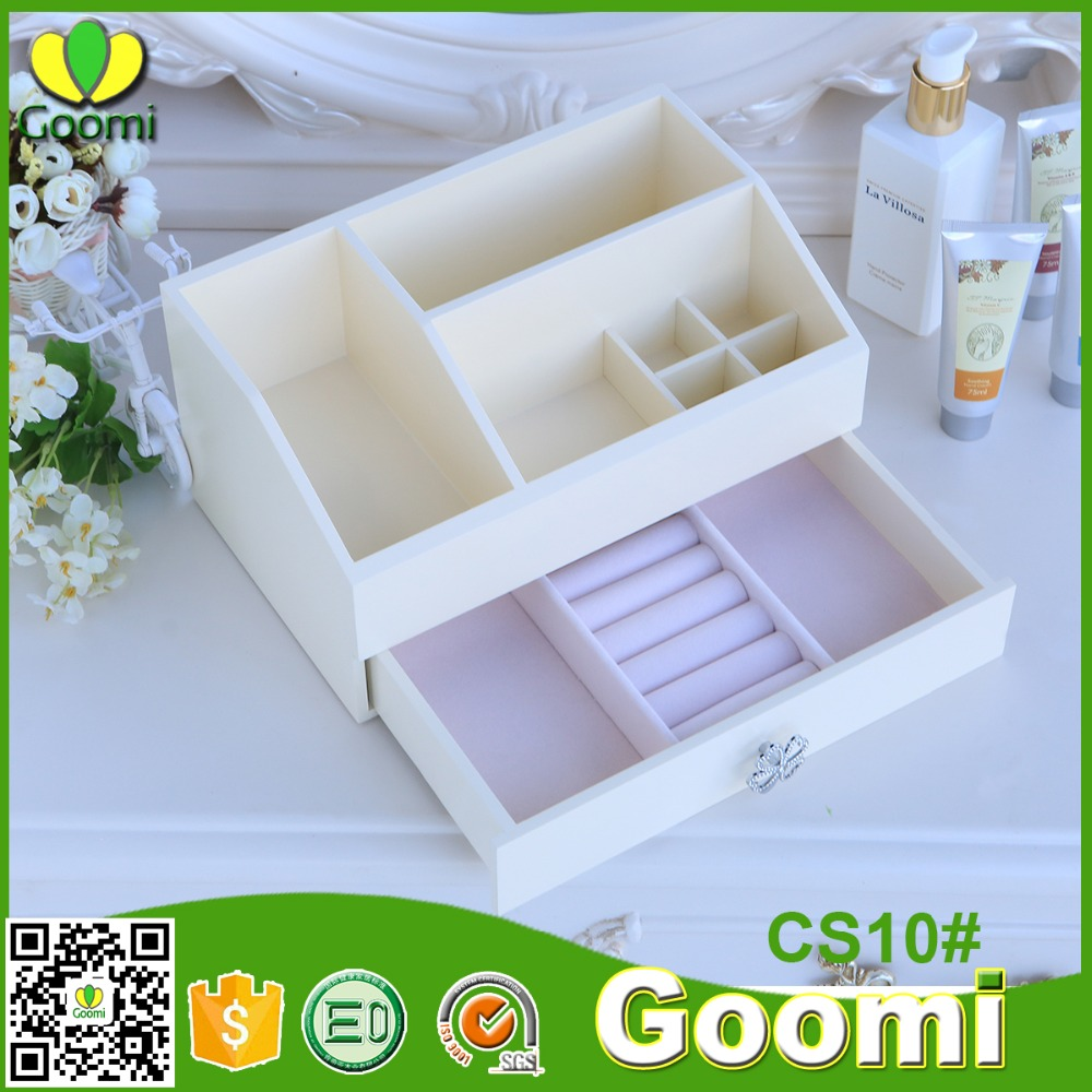 Factory Supply Goomi Furniture CS10# E0 MDF colors wooden multipurpose collapsible storage box with lid