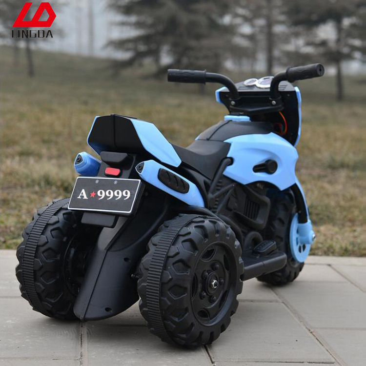 2017 New Plastic Children 3 Wheel Battery Charger Motorcycle For Kids