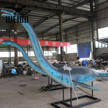 Artificial fiberglass plesiosaurus dinosaur replica playground equipment