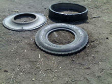SHREDDED TYRE SCRAP IN 3 PEICES