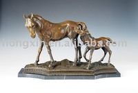 AL-051 antique brass horse horse sculpture animal sculptures in brass