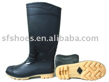 100% waterproof and durable PVC/NITRILE RUBBER RAIN BOOT