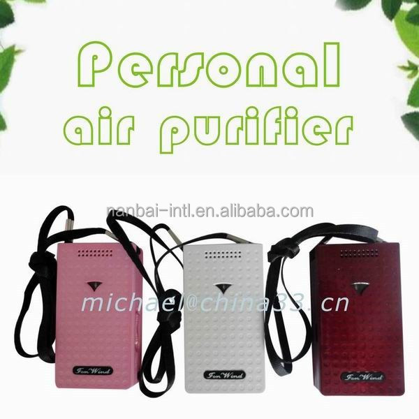 2015 hot sale high quality personal ozonizer ionizer for persona air purify