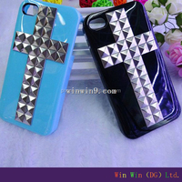 Hot selling Luxury rhinestone studded mobile phone case for iphone