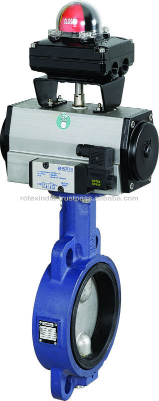 Butterfly Valve with Pneumatic/Rotary Actuator