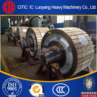 ductile cast iron supporting roller and roller shaft for rotary kiln
