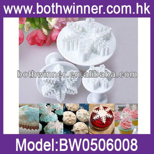 CF016 silicone fondant cake decorating plunger cutters