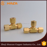 High Quality Wholesales Price Equal Brass Bite type fittings tee