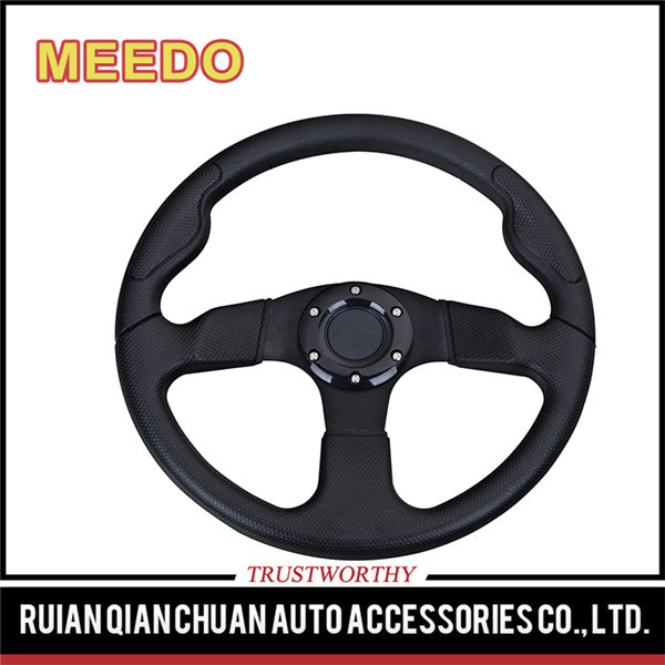 Promotional top quality automobile neo chrome steering wheel