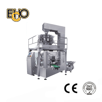 automatic premade pouch packing machine with multi-head electronic weigher