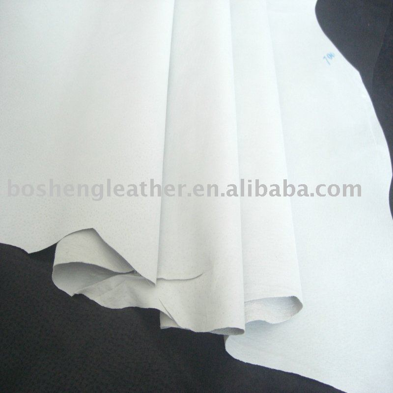 White glazed pig split leather for shoe lining