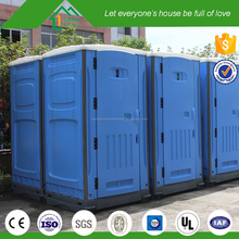 Easy Install HDPE Outdoor Events Plastic Mobile Toilet With Flush