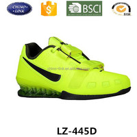 Big sizes professional air cushion sole power weight lifting shoes branded athletic mens and women fitness sport trainers shoe