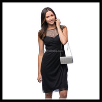 Women Sexy Sequined Black Dress