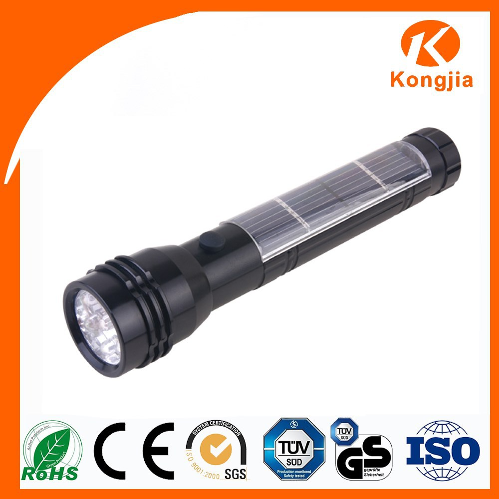 Solar Powerful Torch Light 7 Led Tripod Flashlight