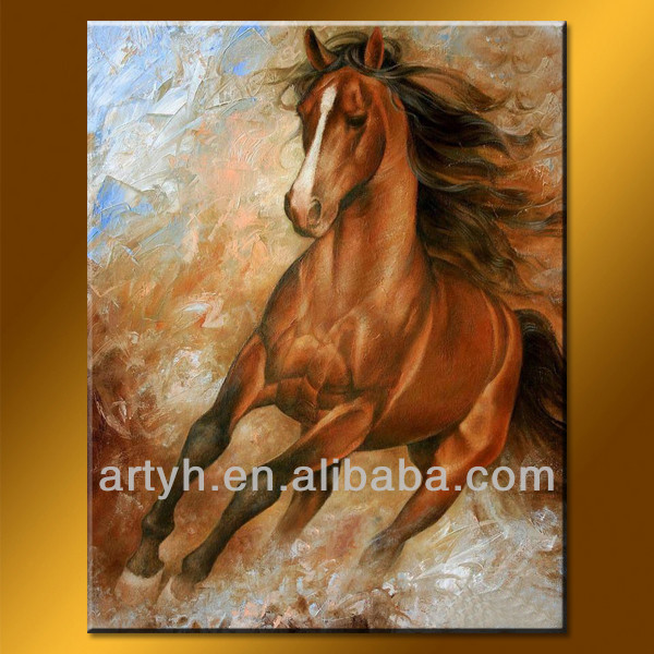Wholesale Modern Handmade Horse Painting with textured