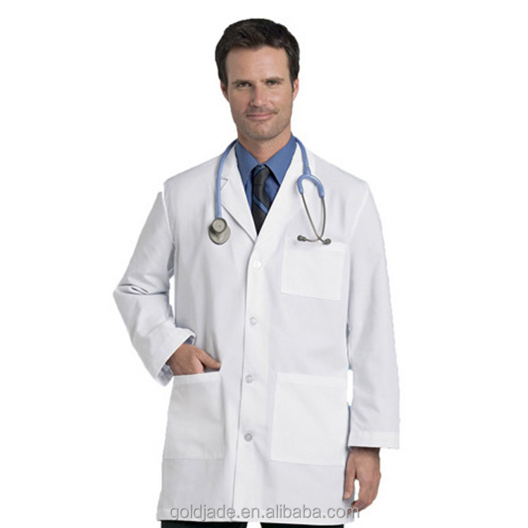 Cusom Long Sleeve Unisex Acid Resistant White Lab Coat