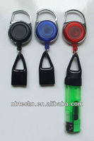 new design retractable plastic badge holder and string