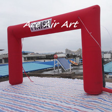 inflatable racing finish line arch come with complete air blower,ropes,sandbag,storage bag