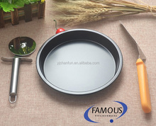 Pizza Pan Non-Stick 6/7/8/9 Inch Round Pizzas Pie Loaf Muffin Tray Carbon Steel Bakeware Deep Dish Baking Pans