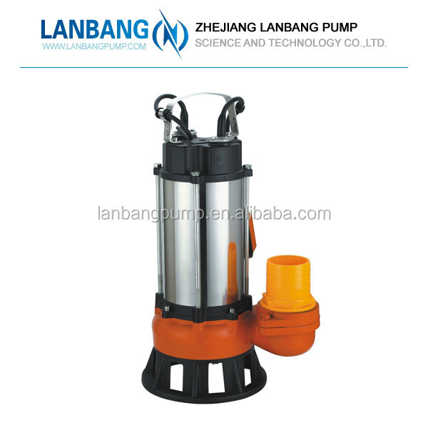 Hot Sale V series 3.0HP Lanbang Electric V2200F Water 31kg Sewage Submersible Pump