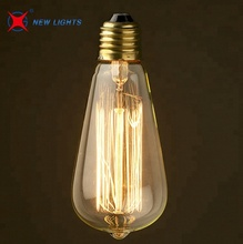 Best quality 220V 40W 60W ST64 Vintage Edison Light Bulb E27