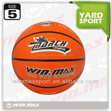 Winmax rubber basketball promotional 5,rubber basketball ball