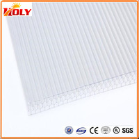 plastic honeycomb sandwich panel /polycarbonate plastic honeycomb sheet /best polycarbonate roofing prices