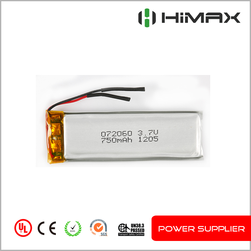 Shenzhen high quality 752540 rc lithium battery 3.7v 580mah lipo battery