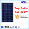 Portable solar panel for camping or outdor long time activities Poly 50W solar panel