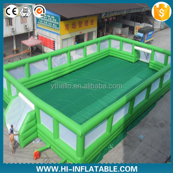 High quality Inflatable football pitch/inflatable football arean/new inflatable soccer field for sale
