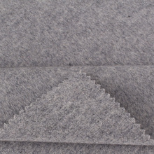 High quality grey cashmere knit fabric by the yard for garment
