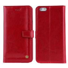 Wholesale Mobile Phone Genuine Leather Wallet Phone Case For Iphone 6S Plus