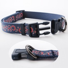 Best Selling Eco-Friendly Nylon Silk Screen Print Neoprene Dog Collar For Sale