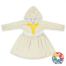 New Arrival Baby Dress With Hood Autumn & Winter Long Sleeve Frocks 0-6 Years Old Baby Girls Dresses