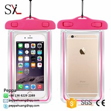 Plastic PVC Waterproof Swimming Bag Mobile Phone Case For Iphone