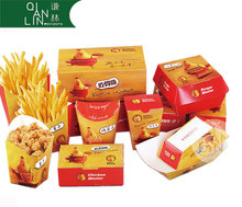 OEM factory direct sales chicken and chips fast food take away paper box