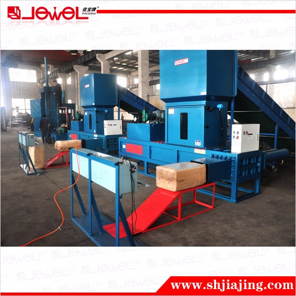 JPW-KT140 CE semi-auto sawdust hydraulic small baler machine