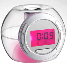 Funny Globe Shape LED Cube Record Message Board Alarm Clock New product