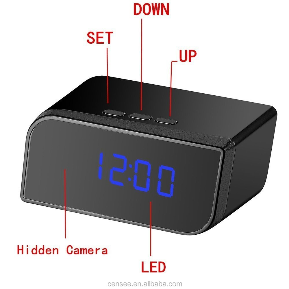 HD 1920x1080 Alarm Clock Hidden Mini Camera with Motion Detection Night Vision