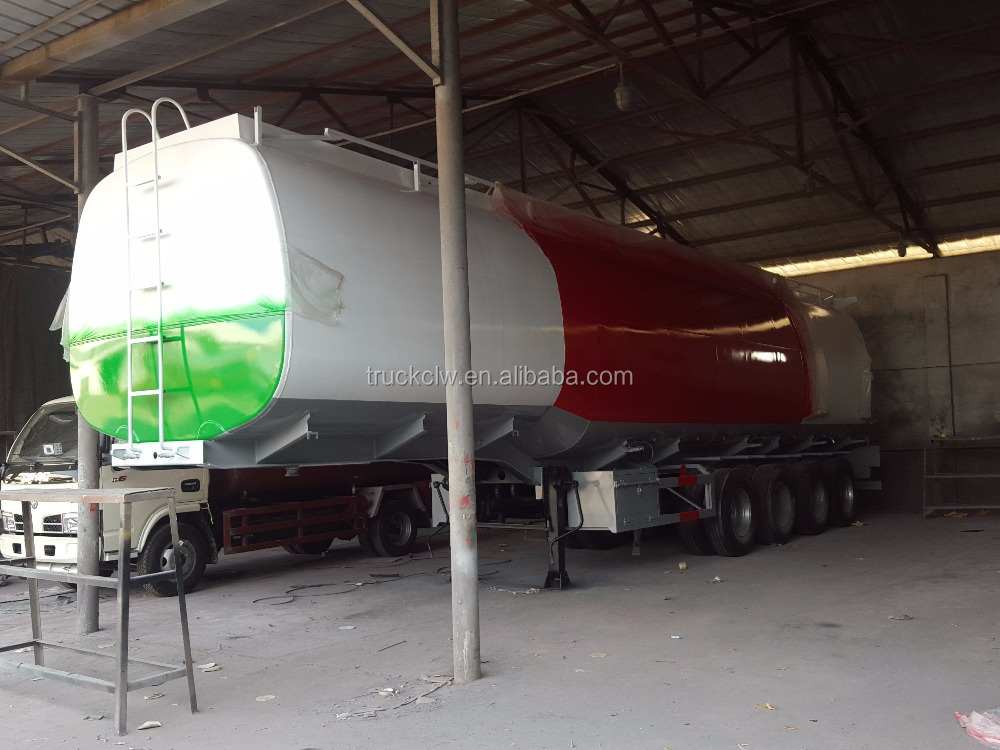 CLW brand liquid fuel delivery trailer 0.83kg/m3 diesel delivery trailer truck use gasoline trailer
